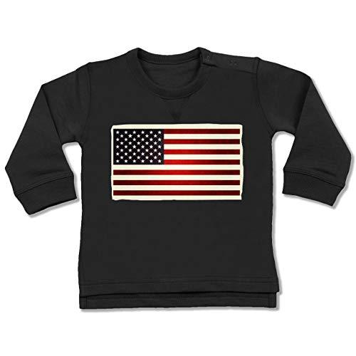 Städte & Länder Baby - Flagge USA - 12-18 Monate - Schwarz - BZ31 - Baby Pullover