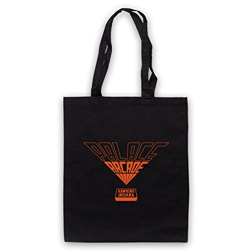Inspire par Stranger Things Palace Arcade Orange Logo Officieux Sac d'emballage