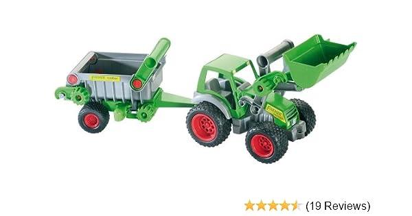 Wader traktor mit frontlader und kipper amazon spielzeug