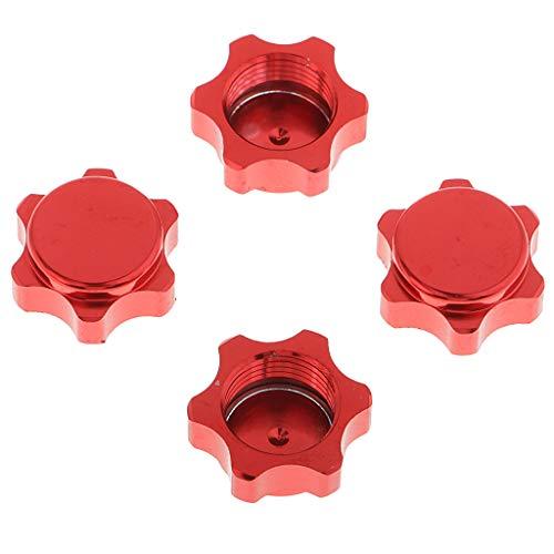 Baoblaze 4er Radmuttern Radschrauben Radnaben Muttern RC Modellbau 1:8 - Rot