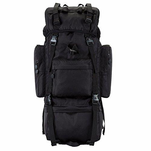 Alpinismo borse per gli uomini e le donne di spalla viaggio zaino doppia spalla sacchi di grandi dimensioni all'aperto montagna Tour pack grande zaino capacità 70L 42*20*75cm, deserto 70L Kaki 70L