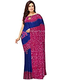 6471dba795e50 Javuli Women s Cotton hand batik Saree With Blouse Piece (batik-saree-b259)