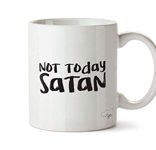 hippowarehouse nicht heute Satan 283,5Tasse, keramik, weiß, One Size (10oz) (Becher Festzug)