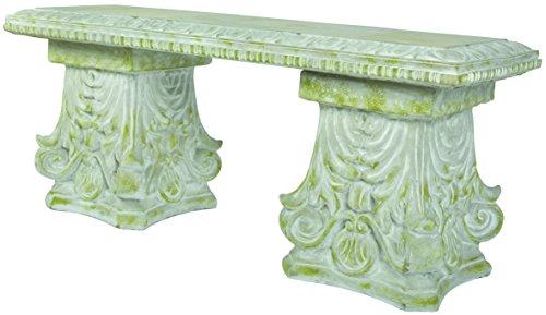 Banc en béton décoration classique
