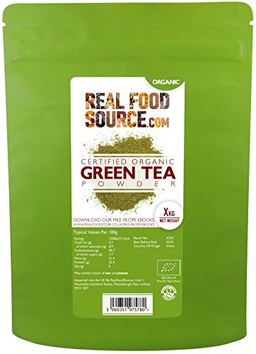 RealFoodSource Certified Organic Green Tea Powder (500g)