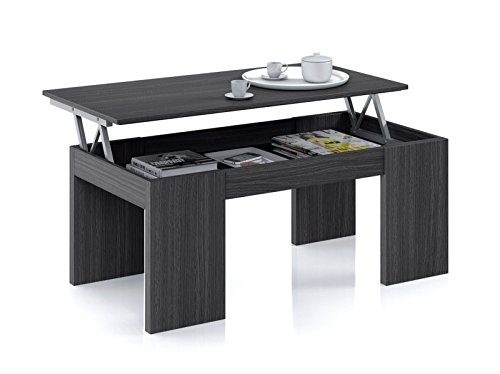 Direct Furniture Lucia-Kendra Lift Up Couchtisch-001637G-Grau Ash-(108x 52x 6,8) -