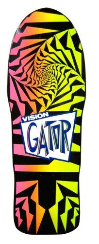 Vision Original Old School Neuauflage Gator 2Skateboard Deck, Black/Pink Fade