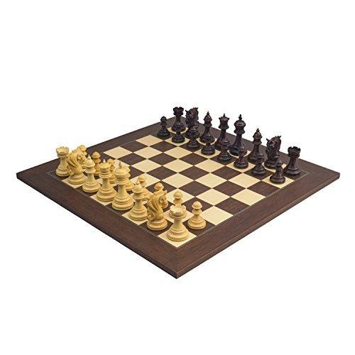 Die Große Kingsgate Rosenholz Palisander Luxus Schachspiel mit 10.8cm King