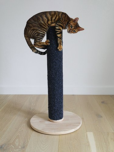 Rosewood tall and modern cat scratch post. LARGE- 80 centimetre 2