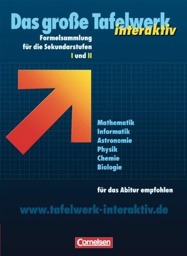 Cornelsen Verlag Das große Tafelwerk interaktiv Formelsammlung für die Sekundarstufen I und II