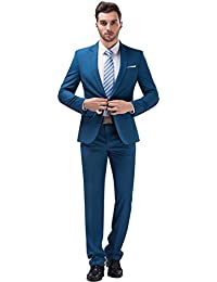 Tsui-Fashion Men's New Work Slim Fit One Button Suits XZ00261BL