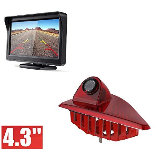Dachkante Rückfahrkamera integriert in 3  Bremsleuchte Transporter Kamera  Set für OPEL Movano B + Nissan NV400 + Renault Master III 2010-2019 + 4,3