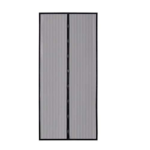 Sekey 321923 - Cortina Magnética de a Prueba de Mosquito para Puertas de Madera / Hierro / Aluminio / Metálicas / del Balcón / de RV, Fácil de Instalar, 210 x 90 cm, Negra