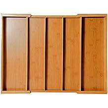 Caja de Almacenamiento de Cubiertos Bandeja para Cubiertos Ajustable Robusto Protección del Medio Ambiente Durable Compartimiento