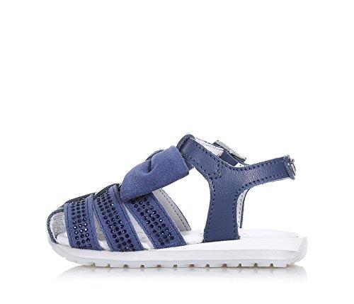 TWIN-SET – Blauer Schuh aus Wildleder und Leder, phantasievoll und modisch, mit Schnallenverschluss, auf der Vorderseite, Mädchen - 5