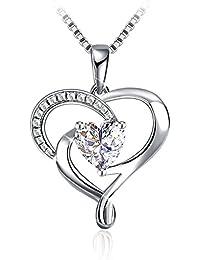 """J.Rosée Collar Plata de Ley 925 """"Amor Constante"""" 5A Circón Regalo Original para Mujer(45cm-50cm)"""