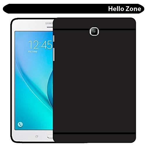 Hello Zone Matte Finish Back Cover for Samsung SM T355 Galaxy Tab A 8.0  Black