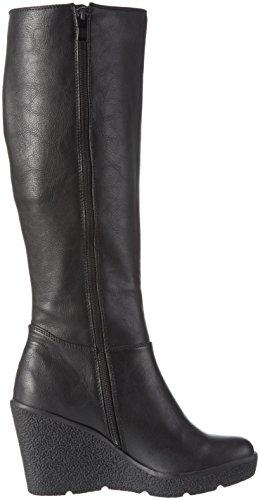 Buffalo B184c-152 P2055a Pu, Bottes hautes  femme Noir - Noir (01)
