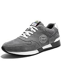 SHOWHOW Herren Unisex Weiche Leichte Canvas Low Top Turnshchuhe Sneakers Schwarz 36 EU