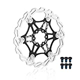 EASTERN POWER Disco Freno, 160 mm Freno a Disco, Flottante Disco Freno Rotore per Shimano/Sram/Avid/Hayes/Magura Mountain Bike MTB Bicicletta BMX Bici, Nero (Include 6 Viti)