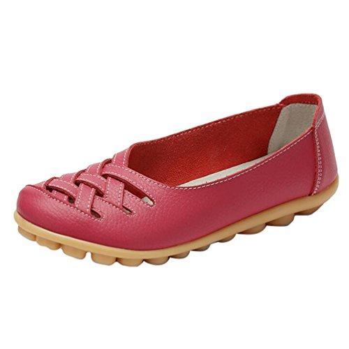 Hohl Rose (Heheja Damen Neu Hohl Mokassins Flach Loafer Freizeit Slipper Schuhe Rose Asia 39 (24.5cm))