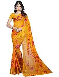 d1c218e268c Novell Enterprice Bandhani Saree With Blouse Piece