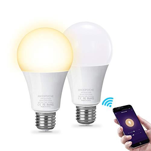 ANOOPSYCHE Bombilla Inteligente Bombillas LED WiFi