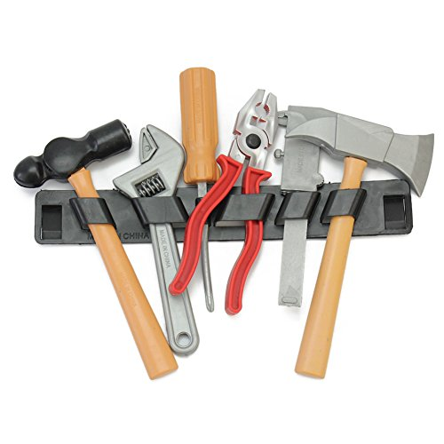 6 Stück Kinderwerkzeug Spielzeug Set Bauwerkzeug Kinder Baumeister Zange Lineal