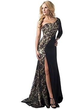 Spitzenkleider,Honestyi Frauen formales Hochzeits Brautjungfern langes Ball Abschlussball Kleid Elegant Cocktailkleid...