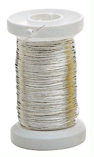 Glorex 6 2220 109 Silberdraht, mit Kupferkern versilbert, 0,4 mm, ca. 40 m auf Spule (Draht Dünner)