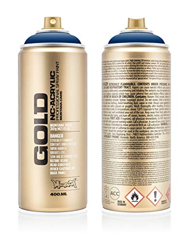 Montana Cans 285714 Montana Spray Dose Gold 400ml-SHOCK Colors, Gld400-s5020-Shock Blue Dark - Montana-spray