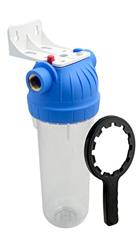 FILTROTECH Filtergehäuse 10 Zoll Anschluss 1 Zoll IG Hauswasserwerk Gartenpumpe Wasserleitung