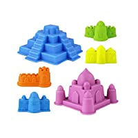 YBWZH 6Pcs Sand Sandbeach Castle Model Kids Beach Castle Water Tools Toys Sand Game For Kids
