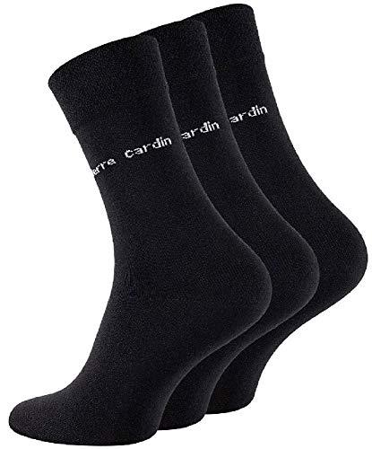 Pierre Cardin Herren Socken Schwarz Größe 43-46 (6)