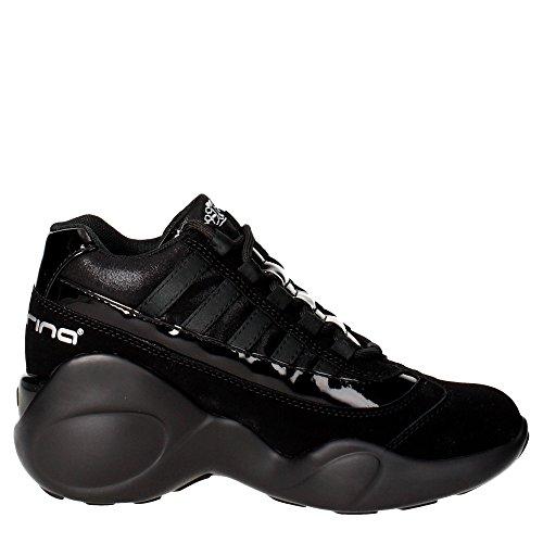 Fornarina PIFUP1183WVA0000 Sneakers Femme Nubuck Noir Noir