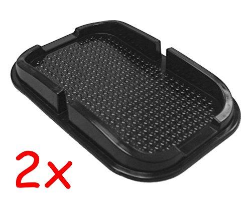 Auto KFZ LKW Antirutschmatte Pad Halterung Halter Handy Navi Smartphone (2 Stück)
