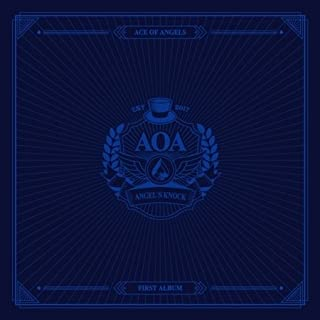 AOA-[ANGEL'S KNOCK] 1st Album B Ver CD+64p Photo Book+2p Photo Card+7p Post Card K-POP SEALED