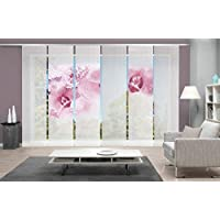 Jacquard Home Fashion 88634-101 Farbe: wei/ß Ma/ße: 3x 225x57 cm 3er-Set SCHIEBEGARDINEN