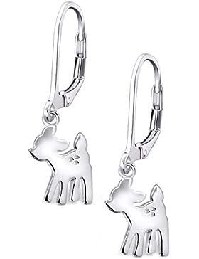 SL-Silver Kinder Ohrringe Kitz Reh Bambi 925 Silber in Geschenkbox