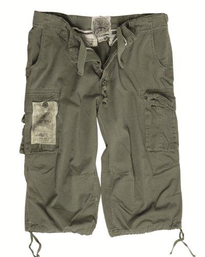 Mil-Tec Air Combat 3/4 Pants prewash oliv Gr.L