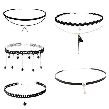 Fashion Kette Kragen Hals Ornament Neckband Spitze Halskette 5 PCS(M)