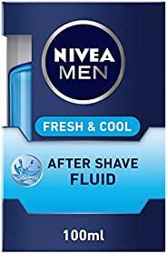NIVEA MEN Fresh & Cool After Shave Fluid, Mint Extracts, 1