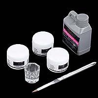 UniqueHeart Kit de Herramientas de Arte Portátil Nail Set Crystal Powder Plato de Líquido acrílico