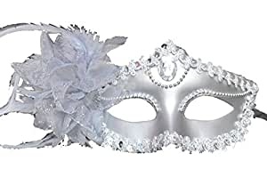 SODIAL(TM) Venetian Style Silver Eye Costume Masquerade Mardi Mask