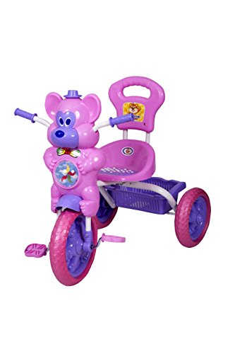 HLX-NMC KIDS FUN MOUSE MUSICAL TRICYCLE PINK/PURPLE  available at amazon for Rs.1675
