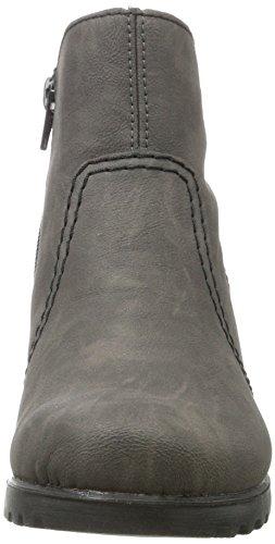 Rieker Damen Y8060 Stiefel Grau (Fumo/grigio/schwarz)