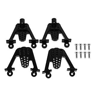 4 STÜCKE Aluminium Hinten & Front Schock Mount LIFT Schocks Für Axial SCX10 RC Crawler