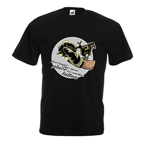 lepni.me T Shirts For Men Aerograph-Tattoo Ink Machine, Every Inch Is Tattooed, Cool tips, Fan Clothing, Humor Gift Ideas