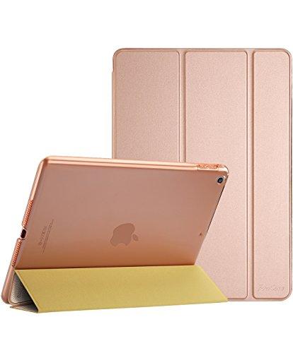 ProCase iPad 9.7 Hülle 2018 iPad 6 Generation /2017 iPad 5 Generation Tasche- Äußerst Schlank Leichtgewicht Ständer mit Transluzent Matt Rückseite Intelligente Hülle für Apple iPad 9.7 Zoll -Rose Gold