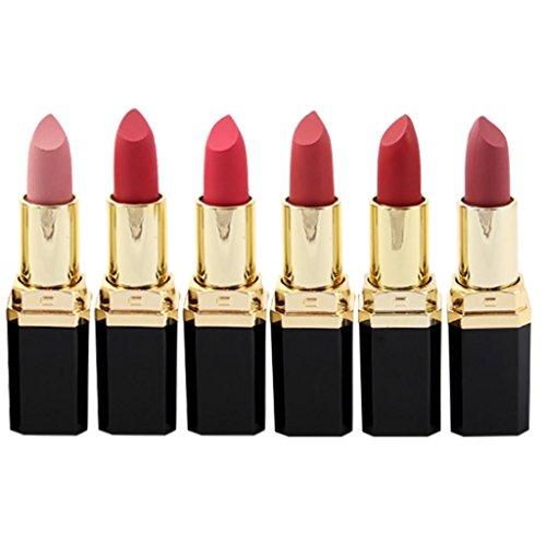 1Set/24PCS matt Lippenstift-Set mingfa Frauen Sexy Charming Wasserdicht Feuchtigkeitsspender Langlebig Lip gloss-not Stick Cup D (Griffe Acryl Purse)